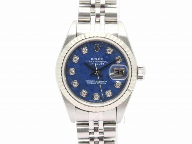 ROLEX ROLEX 時計 79174G/Y  Datejust Watch Stainless Steel Automatic Navy Blue 79174G/Y 0370