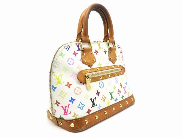 LOUIS VUITTON LOUIS VUITTON バッグ M92647  Multicolor Alma手挽袋白色