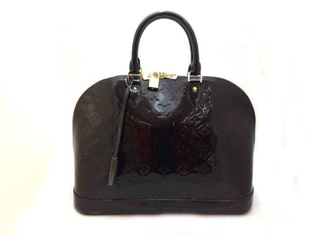 LOUIS VUITTON LOUIS VUITTON バッグ M93595 Vernis Alma GM手挽袋黑色