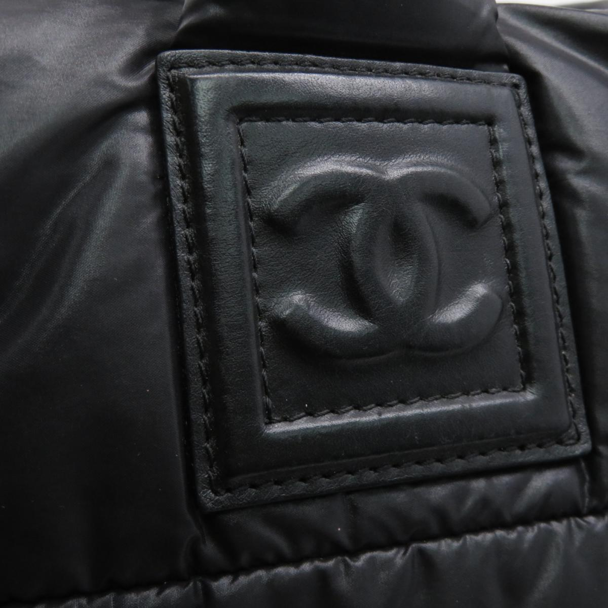 CHANEL CHANEL バッグ   尼龍Coco Cocoon手挽袋黑色